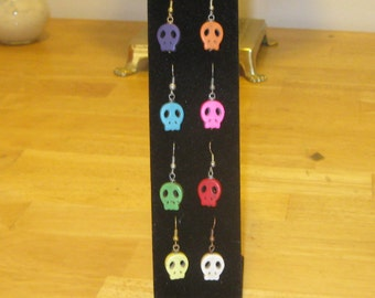 Colored Skull Earrings