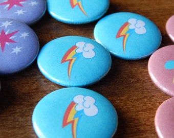 My Little Pony Rainbow Dash Pinback Button Badge Pin