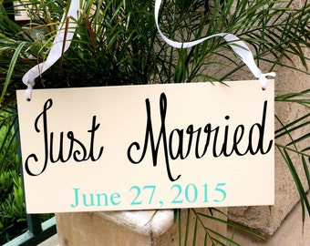 Just Married Sign Wedding Sign Wedding Signs Ringbearer Sign -- Wedding Signage --  Wedding Signs  -- Photo Prop Important Dates Love Dates