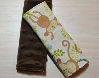 Car Seat Strap Covers - Monkeys