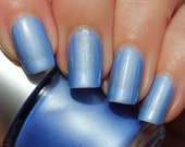 Lily of the Nile Franken Nail Polish - Pearly pastel blue with very light turquoise hues
