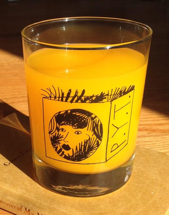 PYT Printed Illustration Glass Tumbler
