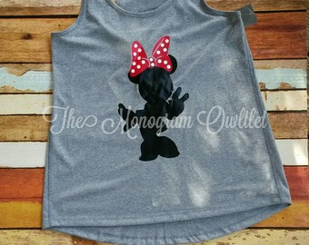 Mouse with bow tank top
