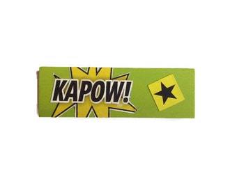 KAPOW | GREEN | Fridge Magnet | Comic Book | Home Decor | Office Magnet | Recycled Gift |  Man Cave | For Him | For Her |