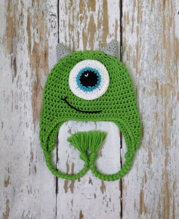 Monsters inc mike crochet hat 0-2T