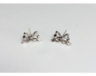 Bow Earrings - Sterling Silver