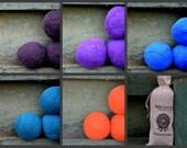 XL Wool Felt Balls - Colored Wool -  Felt Balls
