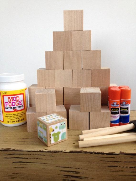 Diy wood baby blocks baby boy baby shower craft for Child craft wooden blocks