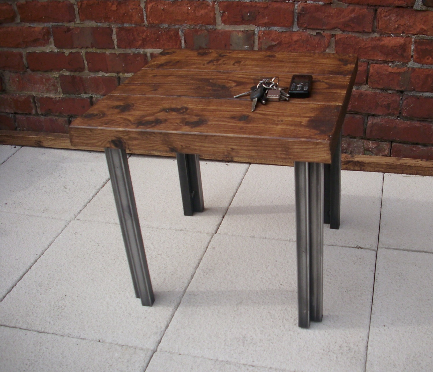 Square Coffee Table Styling: Square Industrial Style Rustic Coffee Table By