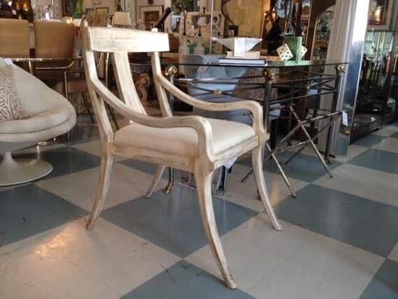 Mid century modern klismos chair by floridamodern33405 on etsy