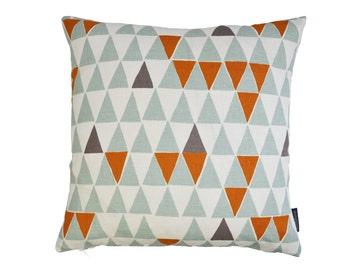 Contemporary Scandinavian Geometric fabric cushion cover - Jaffa Blue