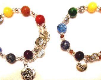 On Sale NOW!  Chakra Healing Bracelet fits all wrists FREE SHIPPING!