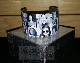 Personalised Photo Cuff Bracelet - Wedding, Birthday Gift <3
