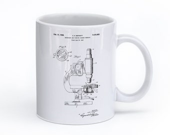 Microscope Mug, Science Coffee Mug, Science Gifts, Science Mugs, Biology Mug, Chemistry Coffee Mug, PP0064