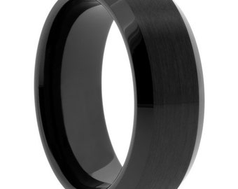 mens ring mens wedding band black ceramic gifts for men anniversary band - Ceramic Wedding Rings