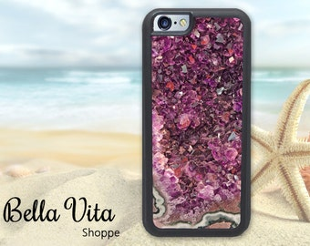 Stone Amethyst iPhone 6 Case, Pretty iPhone 6S Case, Jewels Stones Pretty Pink 1119 I6S