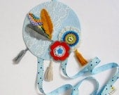 Blue Bohemian 'dream catcher' Hairclip organiser - hairbow holder, headband organiser, Perth