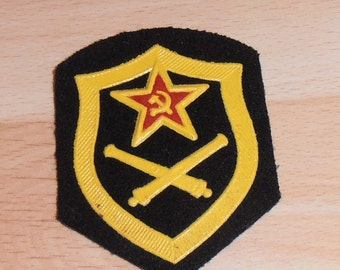 Vintage Russian Military Soviet Army shoulder patch of Artillery force.Wing.Unused.Collectible patch.Made in USSR,Soviet era 70s#S128