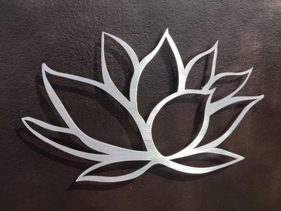 Large Metal Flower Wall Art Brushed Lotus Flower Metal Wall Art Lotus Metal Art Home