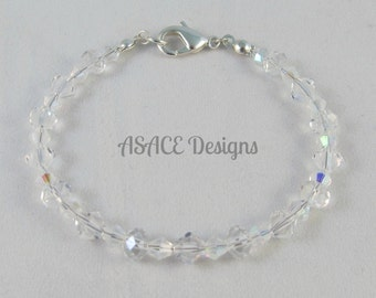 Handmade Crystal April Birthstone Bracelet