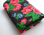 Large piece of new, floral cotton fabric