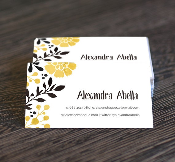 DIY Printable Business Card Template Black by ...