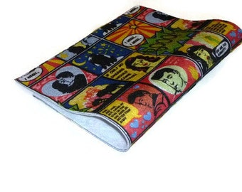 Felt sheets colorful comic strip printed polyester craft fabric TheFeltCollector