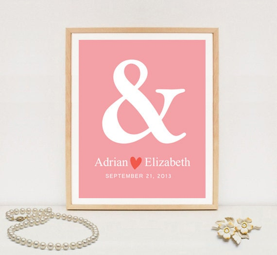 Black Ampersand Wall Decor : Ampersand wall art print save the date poster anniversary