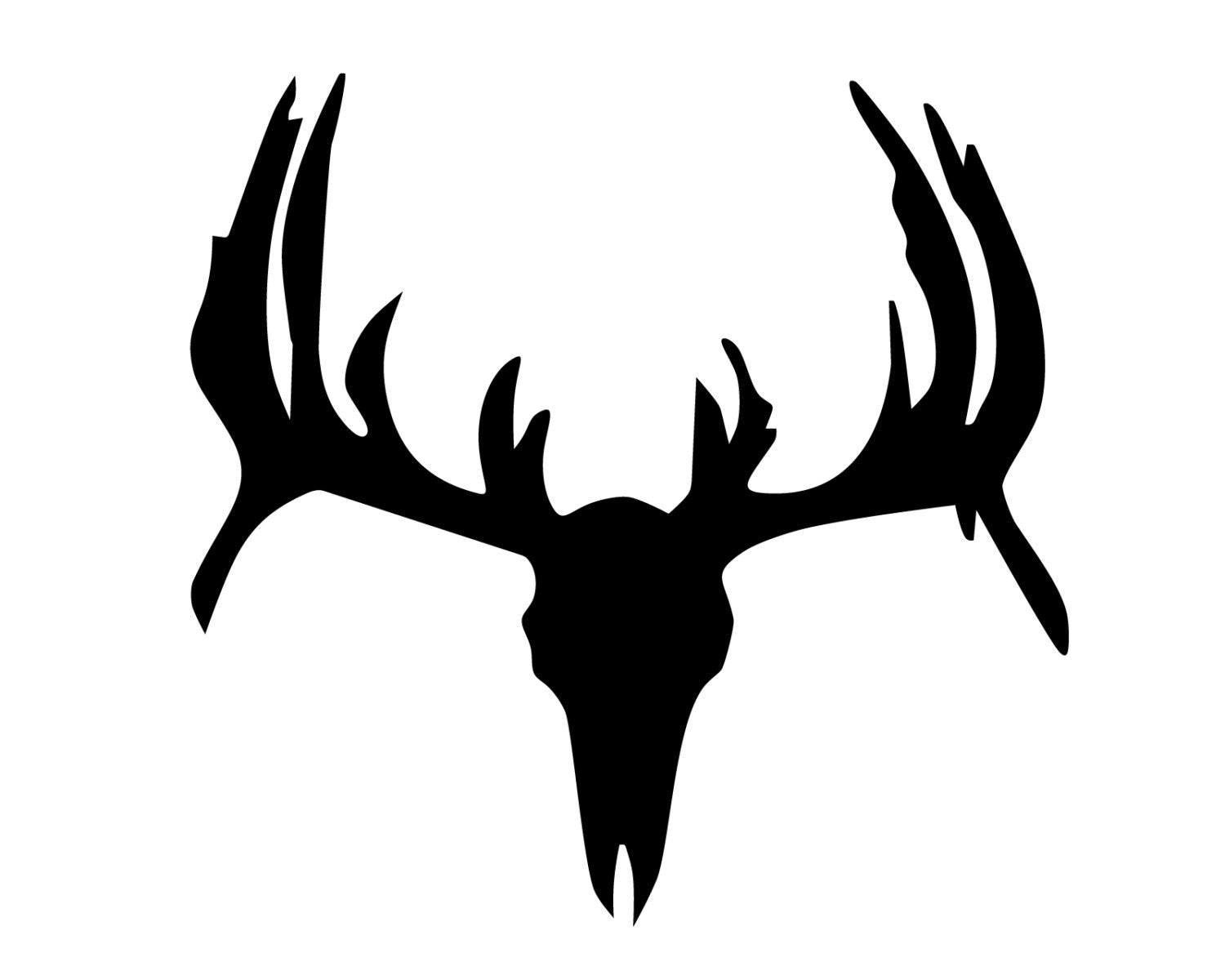 Hunting and fishing vinyl decal deer hunter head or skull for Hunting and fishing decals