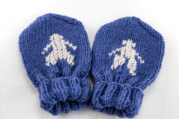 Knitting Pattern For Baby Mittens Without Thumb : Hand Knit Baby Mittens Baby Mittens without Thumb by heaventoseven