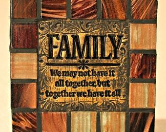 Family Decorative Ceramic Tile Handmade Home Decor