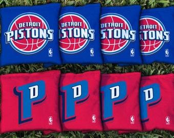Detroit Pistons Cornhole Bags - NBA Licensed