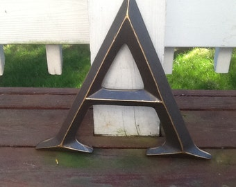 Oil Rubbed Bronze Large Initial Capital Letter By