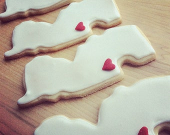 New Jersey Love Iced Shortbread Cookies - 1 Dozen