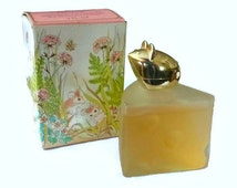 70's Avon Roses Cologne Perfume Bottle Swiss Mouse Vintage Kitsch Figurine Glass Bottle Fragrance Decanter 1970's Shabby Vanity Collectible