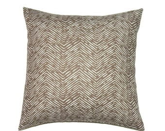 Brown Pillow Cover, 20x20 Pillow Cover, Decorative Pillows, Throw Couch Pillow, Sofa Pillow, Cameron Italian Brown Drew
