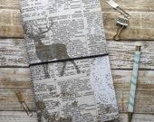 Field Note - Fabric Travelers Notebook - Fauxdori Midori - Refillable Journal Cover