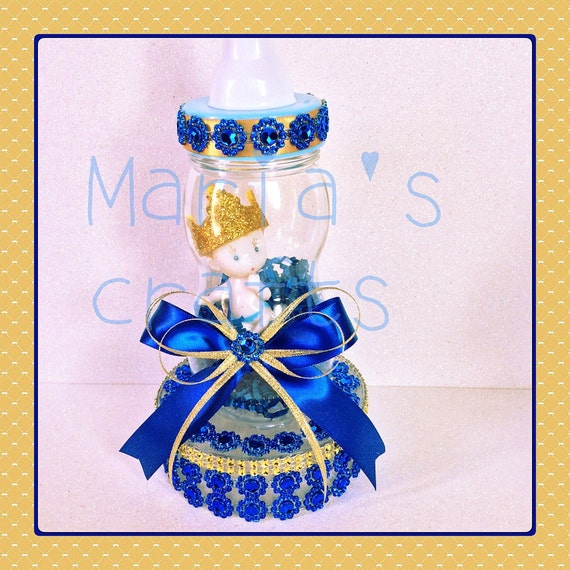 cake topper royal blue and gold baby shower royal prince baby shower