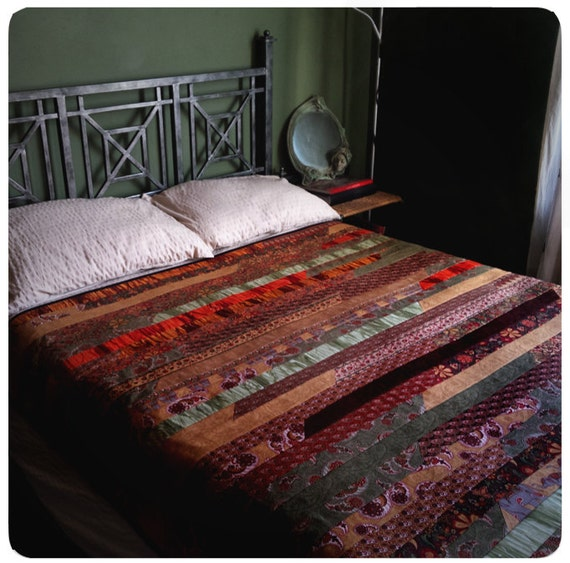 bohemian spice trail patchwork quilt boho chic bedspread