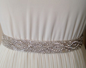All around beading Bridal belt wedding belt bridal sash wedding sash crystal sash crystal belt wedding dress jeweled belt rhinestone sash