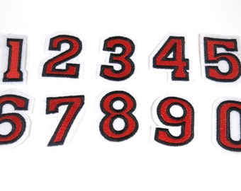 "Set! Iron-on ""numbers"", applique, application"
