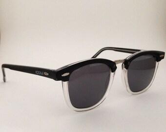 Kookai France Vintage Clubmaster two tone black and transparent sunglasses