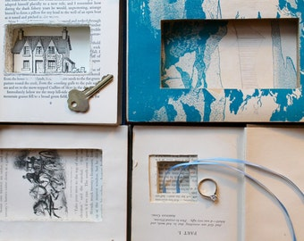 Handmade Book Safes, Handmade Book Safes Made From Recycled Books, Vintage Book Hider