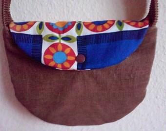 Electrical Elves hippie corduroy shoulder bag