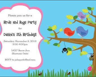 Bugs and Birds Invitation