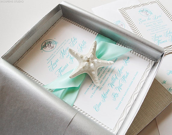 25 Out Of The Box Ideas For Your Destination Wedding: Unique Beach Wedding Invitations Beach Wedding Invitation In