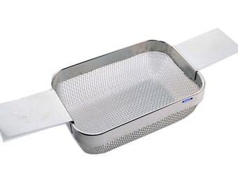 "Ultrasonic Cleaning Basket 4""X3""X1-1/2"" (Wire Mesh) Jewelry Watch Clock, Pieces  Tool WA 223-101"