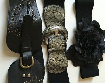 Beautiful lot of 3  belts amongst one in leather hype trendy boho chic