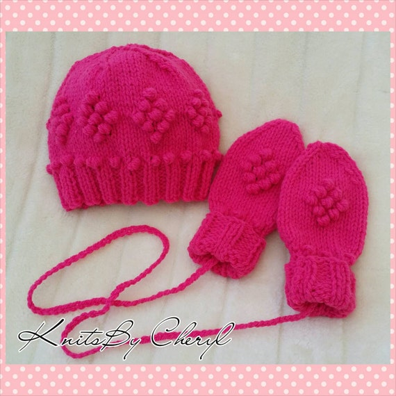 Knitting Pattern For Toddlers Beanie : Knitting pattern Toddler Bobble Beanie and by KnitsByCheryl