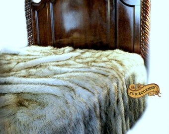 Plush Faux Fur Bedspread forter Throw Blanket Exotic